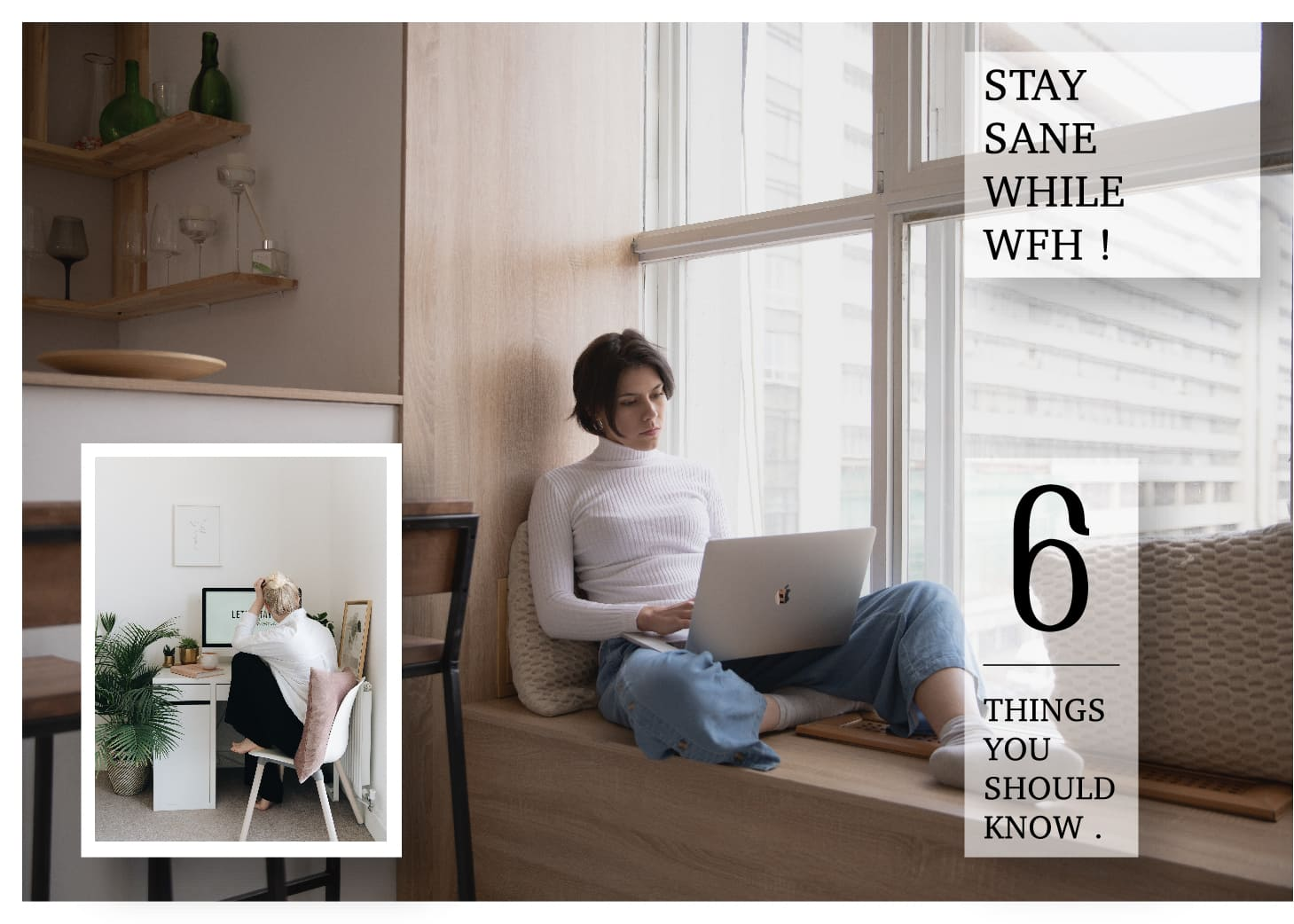 「Stay Sane While WFH! 6 Things You Should Know遠距工作」OMG?!6個在家的你我都該注意的事:準時吃飯,更要準時下班!
